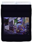 Graffiti Alley San Francisco Duvet Cover