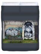 Graffiti Art Curitiba Brazil 1 Duvet Cover by Bob Christopher