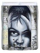 Graffiti Art Curitiba Brazil 2 Duvet Cover
