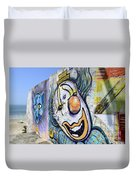 Graffiti Art Santa Catarina Island Brazil 1 Duvet Cover by Bob Christopher