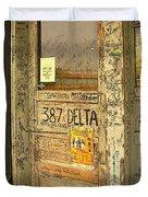 Graffiti Door - Ground Zero Blues Club Ms Delta Duvet Cover
