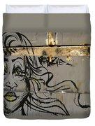Graffiti Girl Duvet Cover