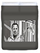 Graffiti In Chicago Il Duvet Cover by Christine Till