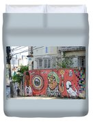 Graffiti In Salvador Duvet Cover