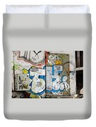 Graffiti In Sozopol Duvet Cover