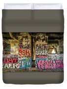 Graffiti On The Walls, Tenth Street Duvet Cover