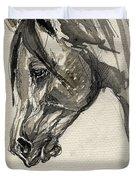 Grafik Polish Arabian Horse Ink Drawing Duvet Cover