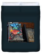 Grafitti And The Panes Duvet Cover