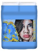 Grafitti Art Calama Chile Duvet Cover