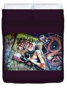 Grafitti Art Florianopolis Brazil 1 Duvet Cover