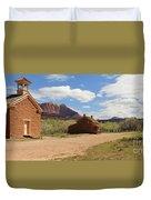 Grafton Utah Butch Cassidy Movie Set Panorama Duvet Cover