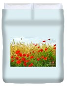 Grain And Poppy Field Duvet Cover