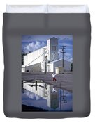 Grain Elevators And Child Duvet Cover