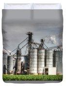 Grain Elevators Duvet Cover