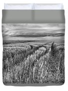 Grain Field Tracks Duvet Cover