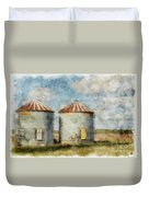 Grain Silos - Digital Paint Duvet Cover