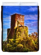 Grain Silos With Digital Painted Effect Duvet Cover