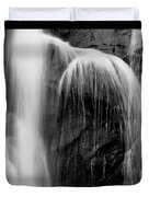 Grampians Waterfall Bw Duvet Cover