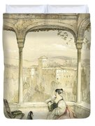Granada , Plate 9 From Sketches Duvet Cover