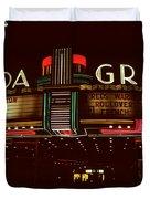 Night Lights Granada Theater Duvet Cover