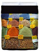 Grand Bazaar Spices In Istanbul Duvet Cover