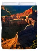Grand Canyon At Sunset Duvet Cover