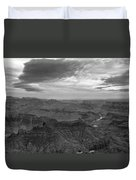 Grand Canyon Black And White Duvet Cover