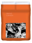 Grand Canyon - Coral Duvet Cover