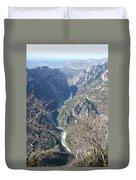 Grand Canyon Du Verdon Overview Duvet Cover