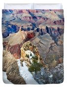 Grand Canyon In February Duvet Cover