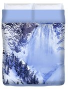 Grand Canyon Of The Yellowstone Yellowstone National Park Wyoming Duvet Cover