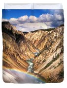 Grand Canyon Of Yellowstone 1 Duvet Cover