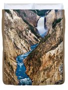 Grand Canyon Of Yellowstone Duvet Cover by Bill Gallagher