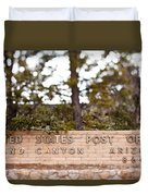 Grand Canyon Post Office Duvet Cover
