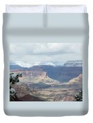 Grand Canyon Shadows And Snow Duvet Cover