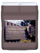 Grand Canyon Signage Duvet Cover