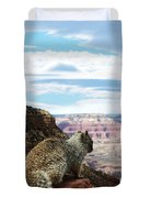 Grand Canyon Squirrel Duvet Cover