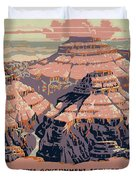 Grand Canyon Travel Poster 1938 Duvet Cover