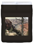 Grand Canyon View Weathered Tree Right Side  Duvet Cover