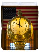 Grand Central Clock Duvet Cover