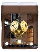 Grand Central Station Clock Duvet Cover