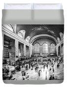 Grand Central Station -pano Bw Duvet Cover