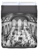 Grand Central Terminal Birds Eye View I Bw Duvet Cover