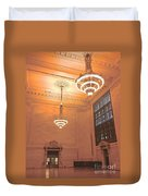 Grand Central Terminal Chandeliers Duvet Cover