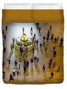 Grand Central Terminal Clock Birds Eye View  Duvet Cover