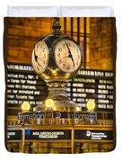 Grand Cerntral Terminal Clock No. 1 Duvet Cover