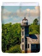 Grand Island Lighthouse Duvet Cover