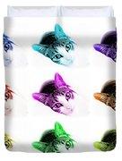 Grand Kitty Cuteness 3 Pop Art 9 Duvet Cover