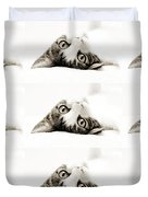 Grand Kitty Cuteness Bw 9 Duvet Cover