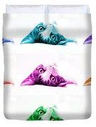 Grand Kitty Cuteness Pop Art 9 Duvet Cover